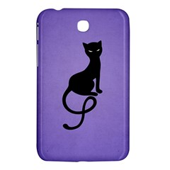 Purple Gracious Evil Black Cat Samsung Galaxy Tab 3 (7 ) P3200 Hardshell Case