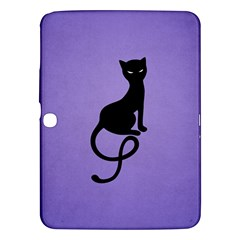 Purple Gracious Evil Black Cat Samsung Galaxy Tab 3 (10.1 ) P5200 Hardshell Case