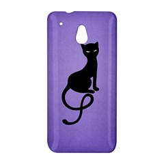 Purple Gracious Evil Black Cat HTC One mini Hardshell Case