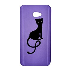 Purple Gracious Evil Black Cat HTC Butterfly S Hardshell Case