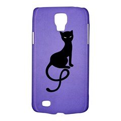 Purple Gracious Evil Black Cat Samsung Galaxy S4 Active (I9295) Hardshell Case