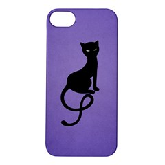 Purple Gracious Evil Black Cat Apple iPhone 5S Hardshell Case