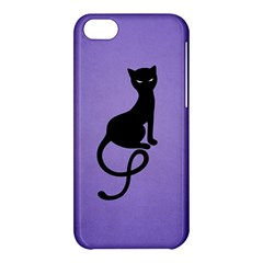 Purple Gracious Evil Black Cat Apple iPhone 5C Hardshell Case