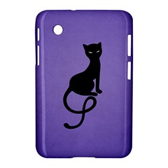 Purple Gracious Evil Black Cat Samsung Galaxy Tab 2 (7 ) P3100 Hardshell Case