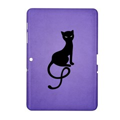 Purple Gracious Evil Black Cat Samsung Galaxy Tab 2 (10.1 ) P5100 Hardshell Case