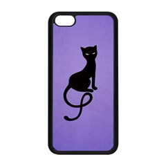 Purple Gracious Evil Black Cat Apple iPhone 5C Seamless Case (Black)