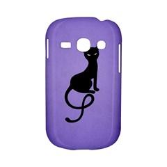 Purple Gracious Evil Black Cat Samsung Galaxy S6810 Hardshell Case