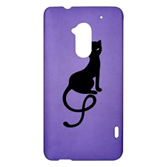 Purple Gracious Evil Black Cat HTC One Max (T6) Hardshell Case