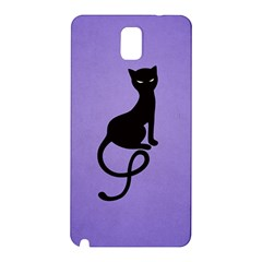 Purple Gracious Evil Black Cat Samsung Galaxy Note 3 N9005 Hardshell Back Case
