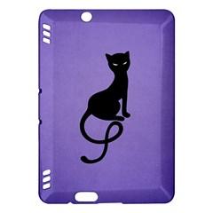 Purple Gracious Evil Black Cat Kindle Fire HDX 7  Hardshell Case