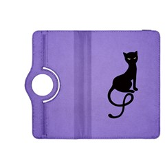 Purple Gracious Evil Black Cat Kindle Fire HDX 8.9  Flip 360 Case