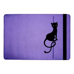 Purple Gracious Evil Black Cat Samsung Galaxy Tab Pro 10 1  Flip Case