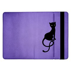 Purple Gracious Evil Black Cat Samsung Galaxy Tab Pro 12.2  Flip Case