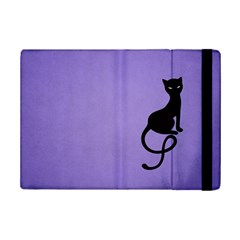Purple Gracious Evil Black Cat Apple Ipad Mini 2 Flip Case