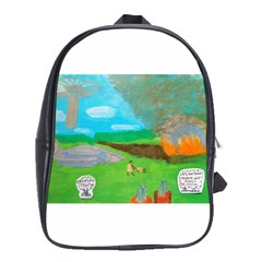 Atlantean Super Jet Crash 11,000 B C  School Bag (xl)