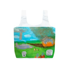 Atlantean Super Jet Crash 11,000 B C  Reusable Bag (S)