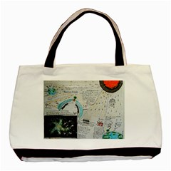 Neutrino Gravity, Twin-sided Black Tote Bag