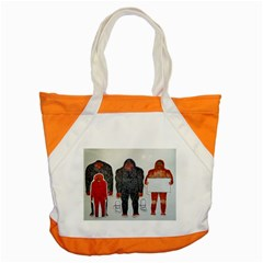 1 Neanderthal & 3 Big Foot,on White, Accent Tote Bag