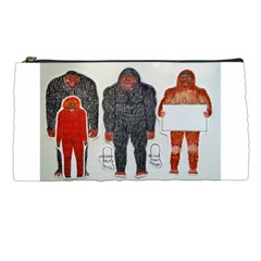 1 Neanderthal & 3 Big Foot,on White, Pencil Case