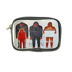 1 Neanderthal & 3 Big Foot,on White, Coin Purse