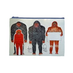 1 Neanderthal & 3 Big Foot,on White, Cosmetic Bag (large)