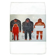 1 Neanderthal & 3 Big Foot,on White, Removable Flap Cover (large)