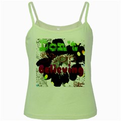 Don t Stop Believing Green Spaghetti Tank