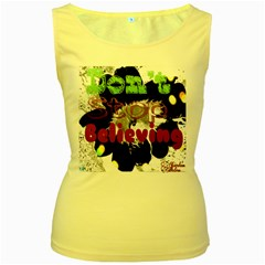 Don t Stop Believing Women s Tank Top (Yellow)