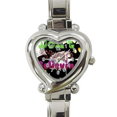 Don t Stop Believing Heart Italian Charm Watch