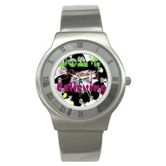 Don t Stop Believing Stainless Steel Watch (Slim)