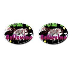 Don t Stop Believing Cufflinks (Oval)