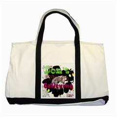 Don t Stop Believing Two Toned Tote Bag