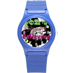 Don t Stop Believing Plastic Sport Watch (Small)