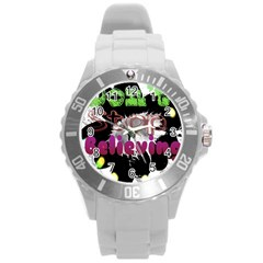 Don t Stop Believing Plastic Sport Watch (Large)