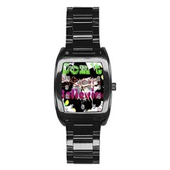 Don t Stop Believing Stainless Steel Barrel Watch