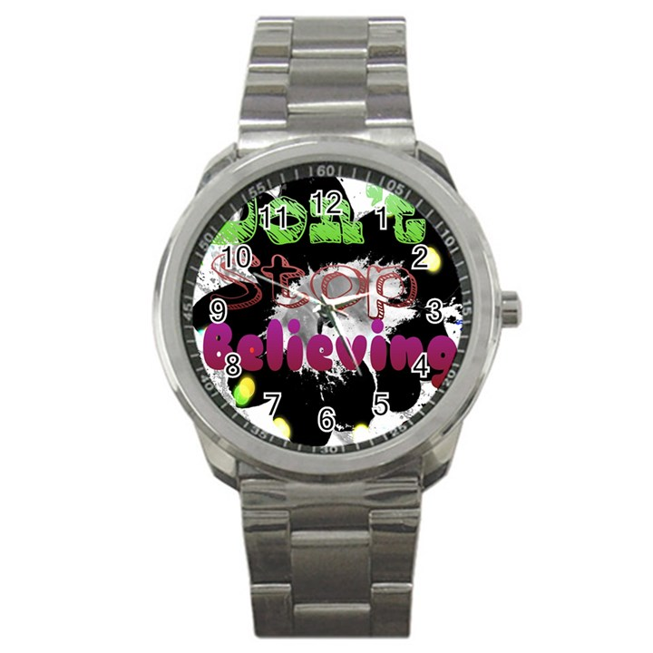 Don t Stop Believing Sport Metal Watch