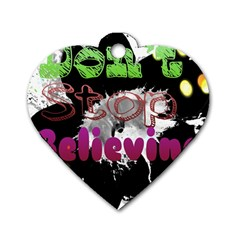 Don t Stop Believing Dog Tag Heart (Two Sided)
