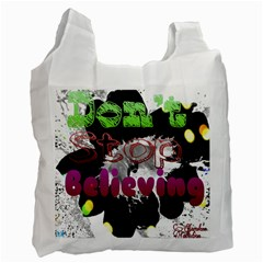 Don t Stop Believing White Reusable Bag (Two Sides)