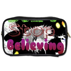 Don t Stop Believing Travel Toiletry Bag (one Side)