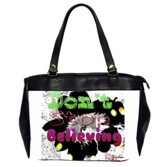 Don t Stop Believing Oversize Office Handbag (two Sides)