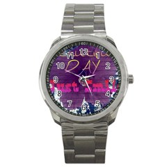 Beautiful Day Just Smile Sport Metal Watch