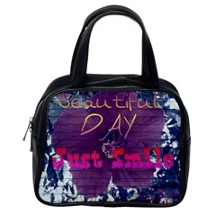Beautiful Day Just Smile Classic Handbag (one Side)