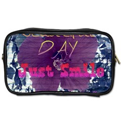 Beautiful Day Just Smile Travel Toiletry Bag (one Side)