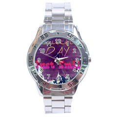 Beautiful Day Just Smile Stainless Steel Watch