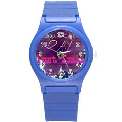 Beautiful Day Just Smile Plastic Sport Watch (Small)