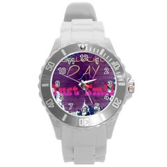 Beautiful Day Just Smile Plastic Sport Watch (Large)