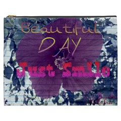 Beautiful Day Just Smile Cosmetic Bag (XXXL)