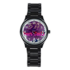 Beautiful Day Just Smile Sport Metal Watch (Black)