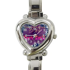 Beautiful Day Just Smile Heart Italian Charm Watch
