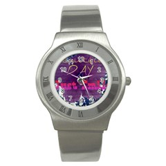 Beautiful Day Just Smile Stainless Steel Watch (slim)